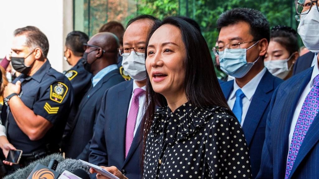 Directora de Huawei llega a China tras ser liberada en Canadá. Foto de EFE